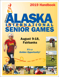 Cover Image of the 2019 Senior Games Handbook