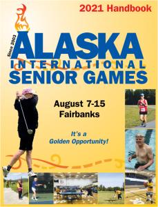 Cover image of the 2021 Senior Games Handbook